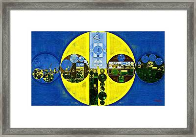 Abstract Painting - Starship Framed Print