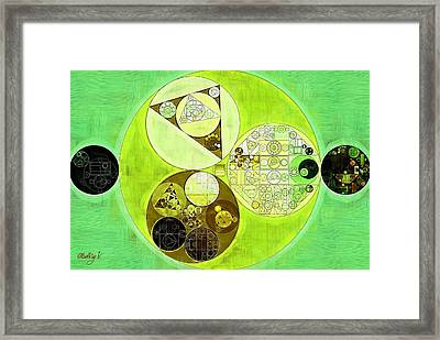 Abstract Painting - Sulu Framed Print
