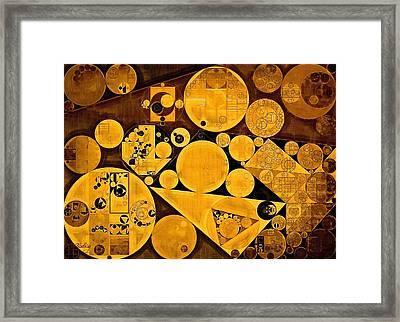 Abstract Painting - Sunflower Framed Print by Vitaliy Gladkiy