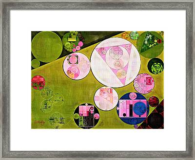 Abstract Painting - Tea Rose Framed Print