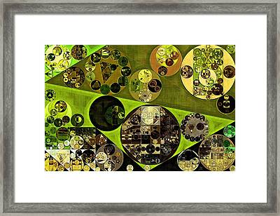 Abstract Painting - Trendy Green Framed Print