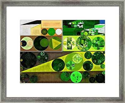 Abstract Painting - Tusk Framed Print