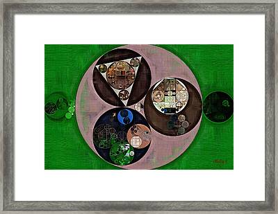 Abstract Painting - Up Forest Green Framed Print
