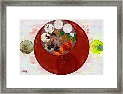 Abstract Painting - Up Maroon Framed Print by Vitaliy Gladkiy