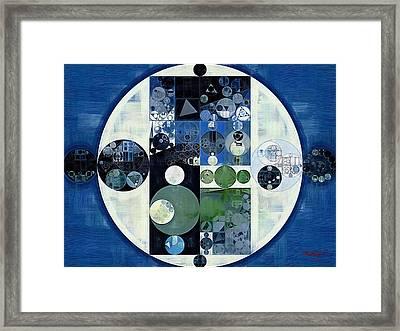 Abstract Painting - Venice Blue Framed Print by Vitaliy Gladkiy