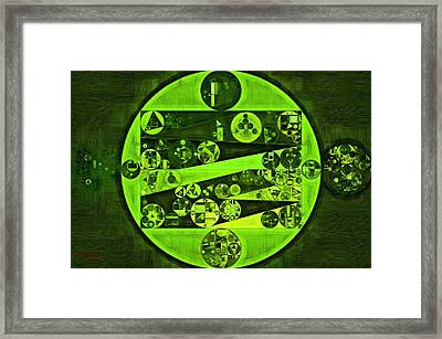 Abstract Painting - Verdun Green Framed Print