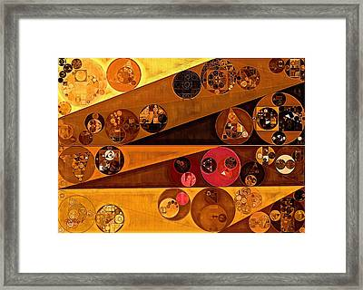 Abstract Painting - Yellow Sea Framed Print
