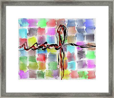 Abstract Patchwork Canvas Framed Print by Michael Greenaway