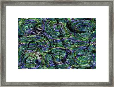 Abstract Pattern 5 Framed Print by Jean Bernard Roussilhe