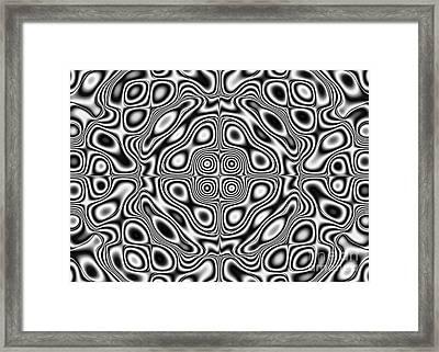 Abstract Pattern - Kaleidoscopic Pattern Framed Print
