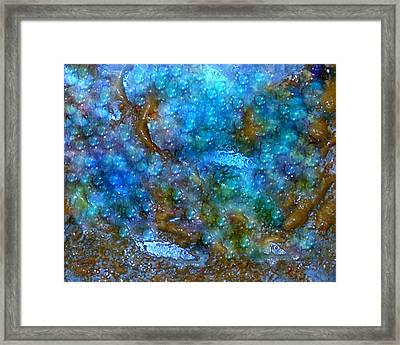 Abstract-pearls Of The Sea Framed Print by Sherri's - Of Palm Springs