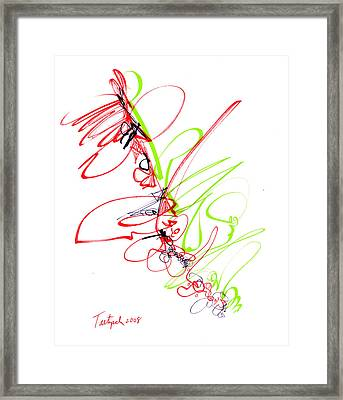 Abstract Pen Drawing Seventy Framed Print by Lynne Taetzsch