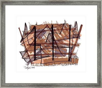 Abstract Pen Drawing Twelve Framed Print