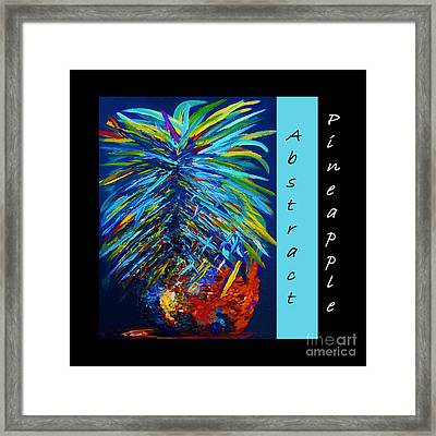 Abstract Pineapple Framed Print by Eloise Schneider