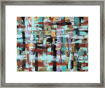 Abstract Plaid Framed Print