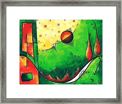 Abstract Pop Art Original Painting Framed Print by Megan Duncanson