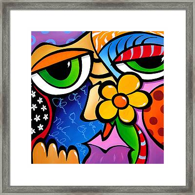 Abstract Pop Art Original Painting Scratch N Sniff By Fidostudio Framed Print