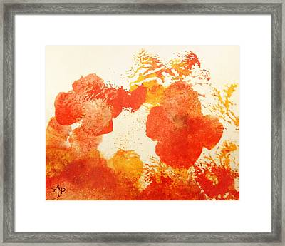 Abstract Poppies Framed Print