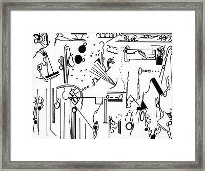 Abstract Postcard Framed Print by Christine Perry