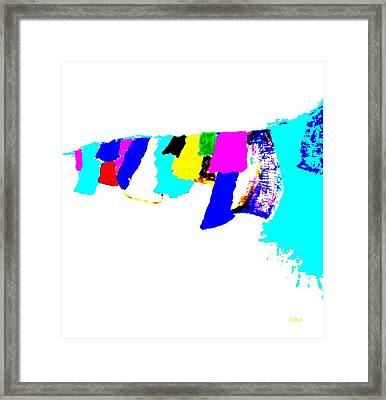 Abstract Prayers Framed Print by VIVA Anderson