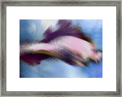 Abstract Purple Iris Framed Print