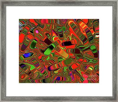 Abstract Rainbow Slider Explosion Framed Print