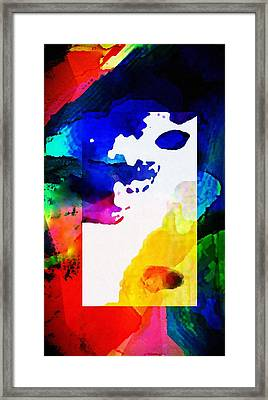 Rectangle Merge Abstract By Delynn Sold Framed Print by Delynn Addams