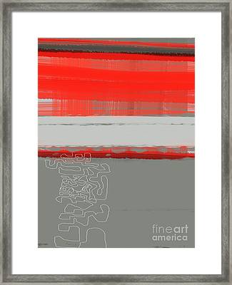 Abstract Red 1 Framed Print by Naxart Studio