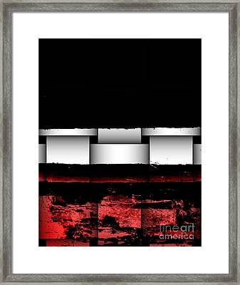 Abstract Red And Black Ll Framed Print by Marsha Heiken
