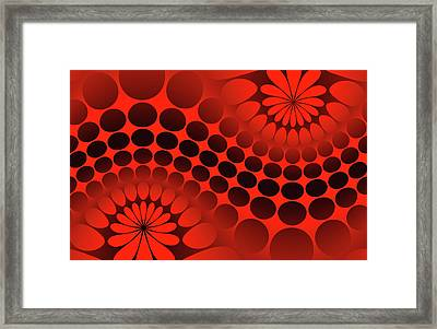 Abstract Red And Black Ornament Framed Print