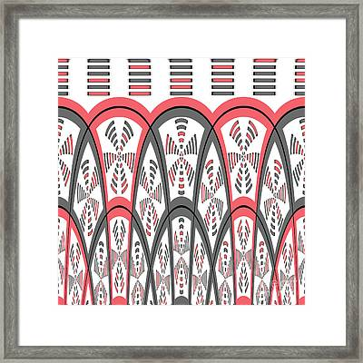 Abstract Red And Grey Framed Print by Gaspar Avila