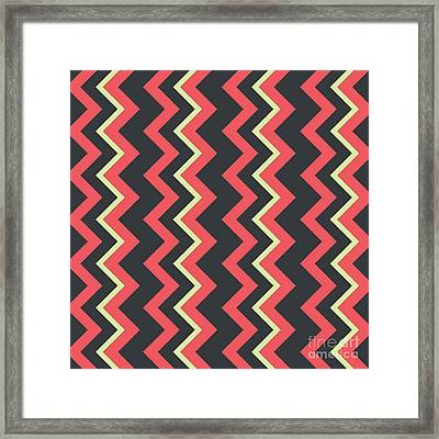 Abstract Red, Dark Gray And Green Pattern For Home Decoration Framed Print