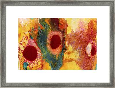 Abstract Red Flower Garden 2 Framed Print