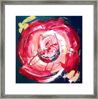 Abstract Red Rose Framed Print by Jay Anthony Gonzales
