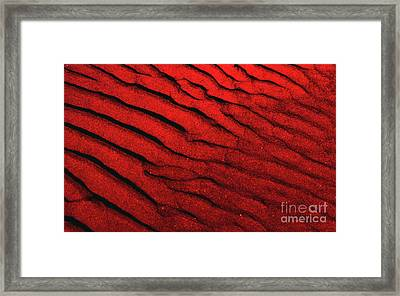 Abstract Red Sand- 2 Framed Print