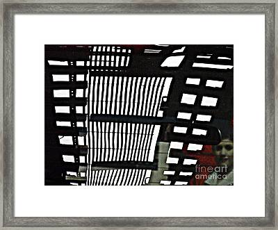 Abstract Reflection 16 Framed Print by Sarah Loft