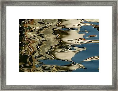 Abstract Reflections Formed By Rippling Framed Print by Todd Gipstein