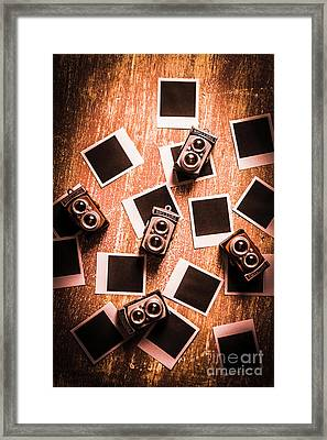 Abstract Retro Camera Background Framed Print by Jorgo Photography - Wall Art Gallery