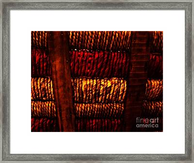 Abstract Ribbed Rows Framed Print by Marsha Heiken