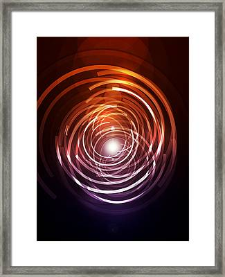 Abstract Rings Framed Print