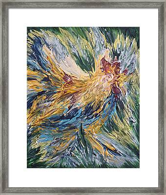 Abstract Guam Rooster Framed Print