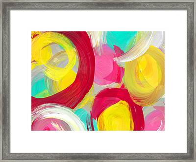 Abstract Rose Garden In The Morning Light 1 Framed Print by Amy Vangsgard