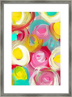 Abstract Rose Garden In The Morning Light Vertical 1 Framed Print