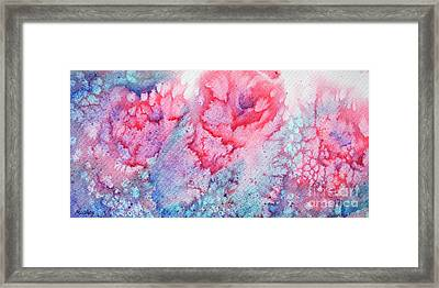 Abstract Roses Framed Print