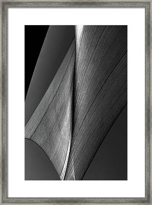 Framed Print featuring the photograph Abstract Sailcloth 199 by Bob Orsillo