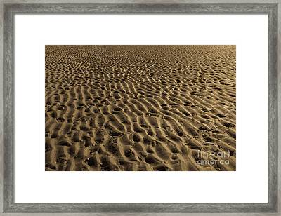 Abstract Sand Framed Print