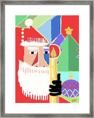 Abstract Santa Framed Print by Arline Wagner