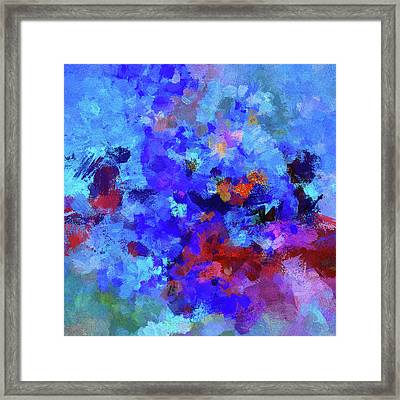 Abstract Seascape Painting Framed Print by Ayse Deniz