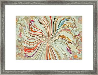 Abstract Seashells Watercolor Framed Print