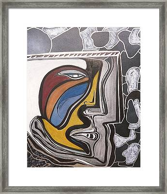 Abstract Self Portrait 1988 Framed Print by Jimmy King